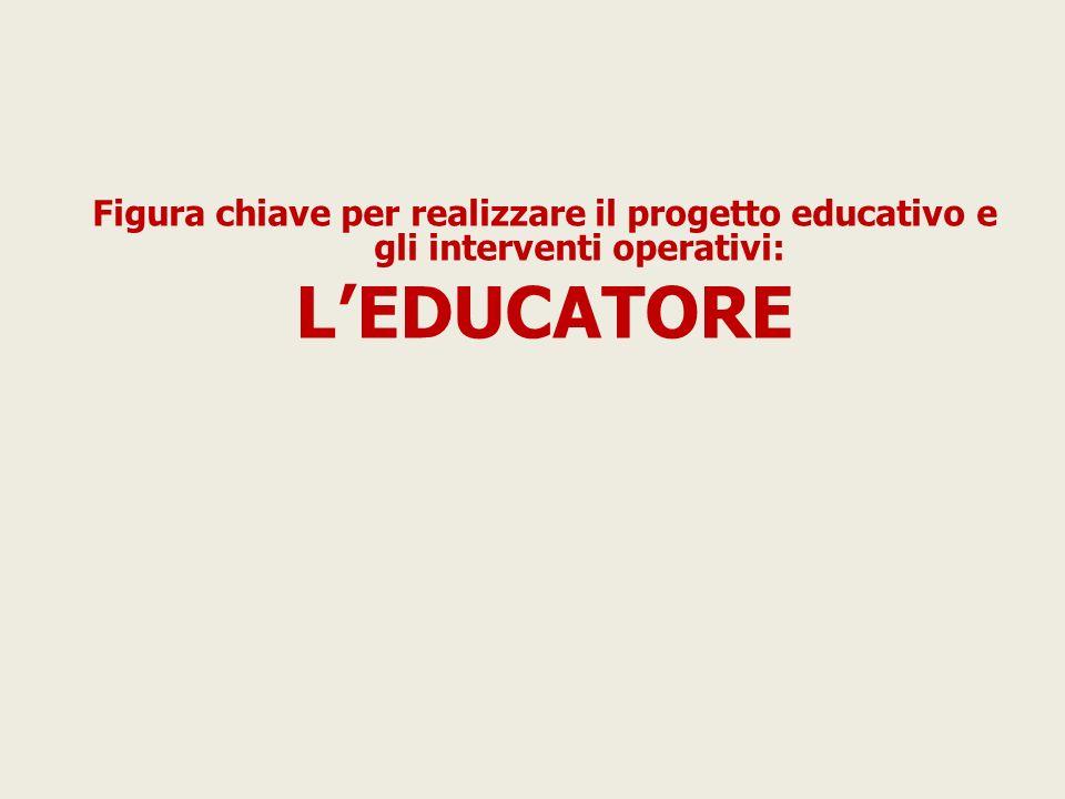 Figura chiave per realizzare il progetto educativo e gli interventi operativi: LEDUCATORE