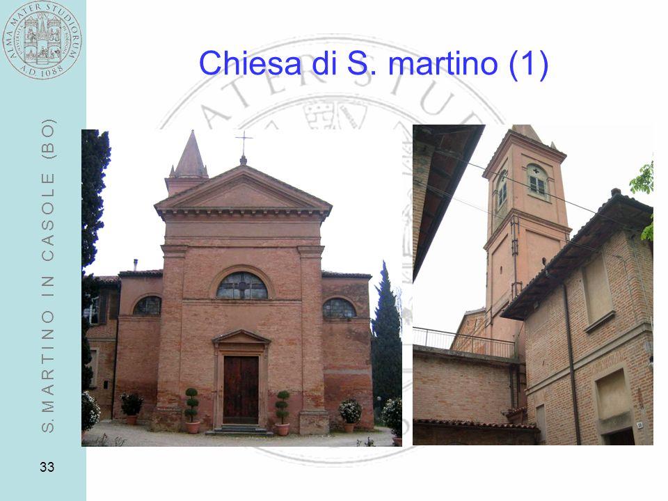 33 Chiesa di S. martino (1) S. M A R T I N O I N C A S O L E (B O)