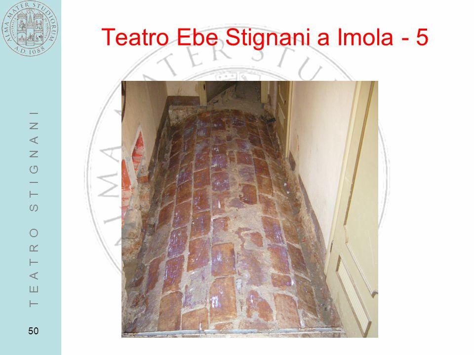 50 Teatro Ebe Stignani a Imola - 5 T E A T R O S T I G N A N I