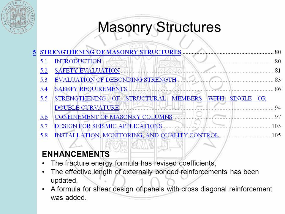 Calibration of cross reinforced walls Tests of Marcari et Al. - Naples