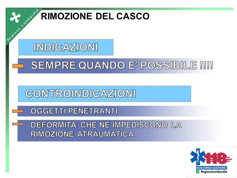 RIMOZIONE DEL CASCO