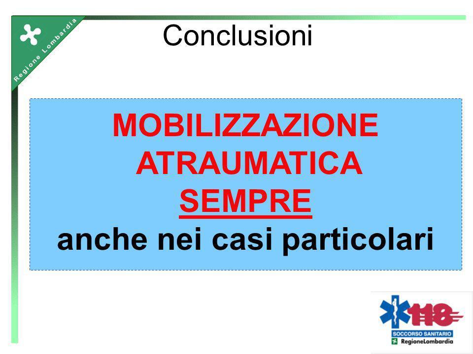 Conclusioni MOBILIZZAZIONE ATRAUMATICA SEMPRE anche nei casi particolari