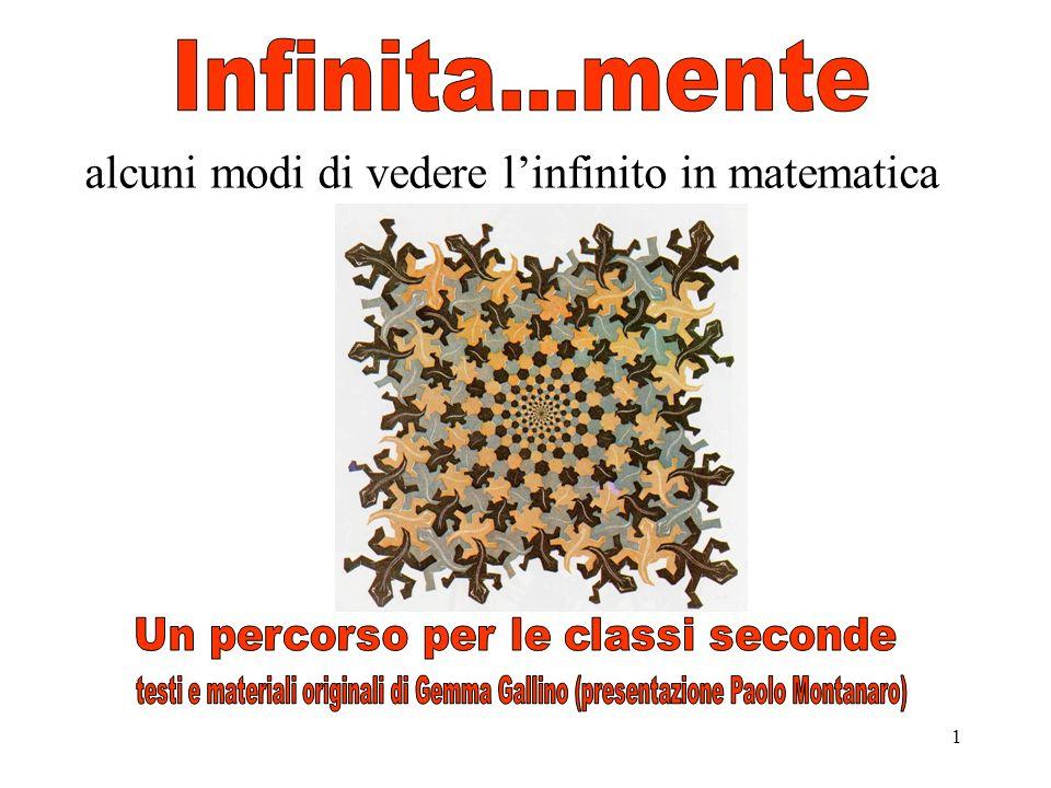 1 alcuni modi di vedere linfinito in matematica