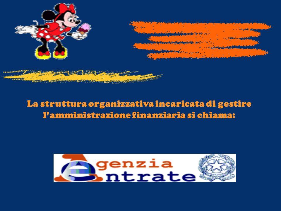 La struttura organizzativa incaricata di gestire lamministrazione finanziaria si chiama: