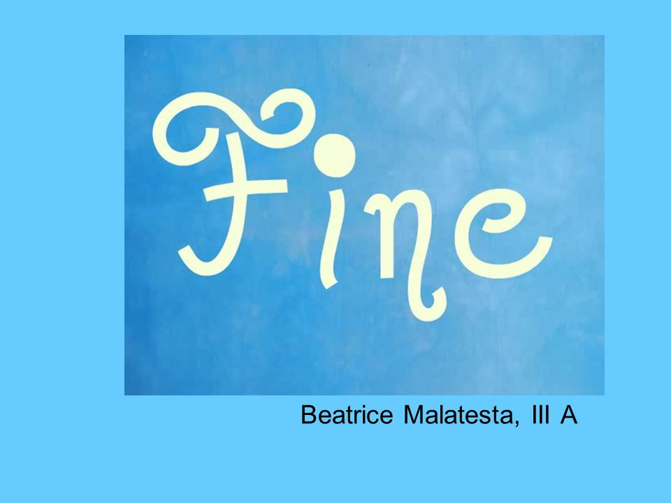 Beatrice Malatesta, III A
