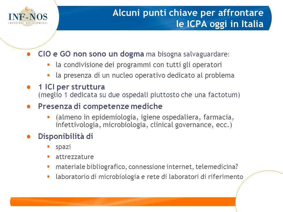 CIO e GO non sono un dogma ma bisogna salvaguardare : la condivisione dei programmi con tutti gli operatori la presenza di un nucleo operativo dedicat