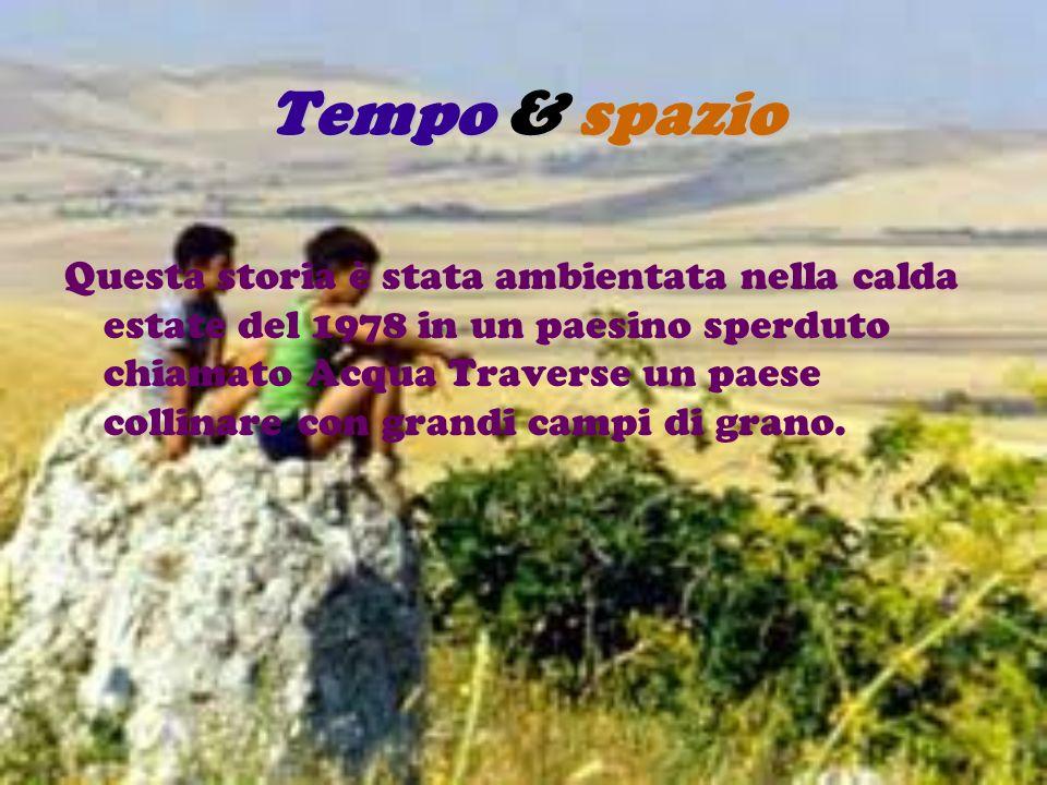 Tempo & spazio Questa storia è stata ambientata nella calda estate del 1978 in un paesino sperduto chiamato Acqua Traverse un paese collinare con gran