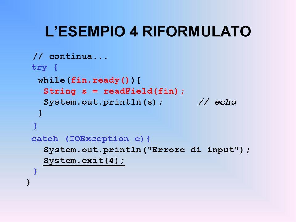 LESEMPIO 4 RIFORMULATO // continua...