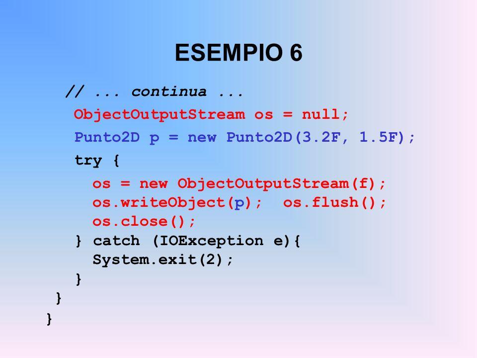 ESEMPIO 6 //...continua...