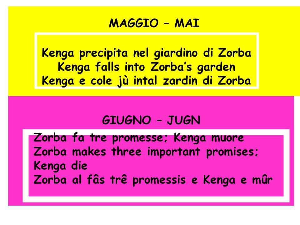 MAGGIO – MAI GIUGNO – JUGN Kenga precipita nel giardino di Zorba Kenga falls into Zorbas garden Kenga e cole jù intal zardin di Zorba Zorba fa tre pro