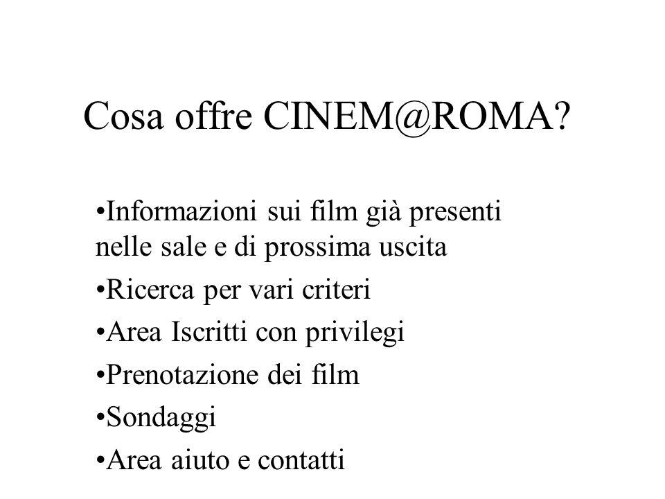 Perché scegliere CINEM@ROMA.