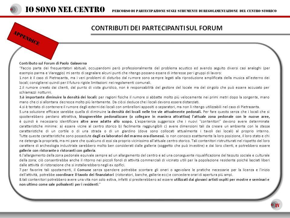 Contributo sul Forum di Paolo Galaverna Faccio parte dei frequentatori abituali, occupandomi però professionalmente del problema acustico ed avendo se