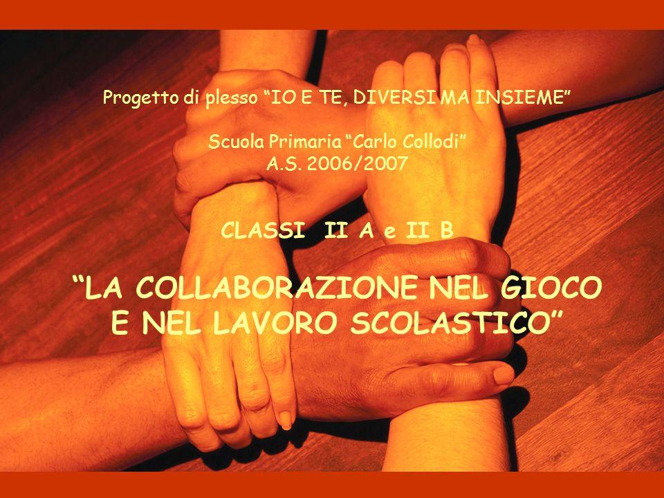 Progetto di plesso IO E TE, DIVERSI MA INSIEME Scuola Primaria Carlo Collodi A.S.