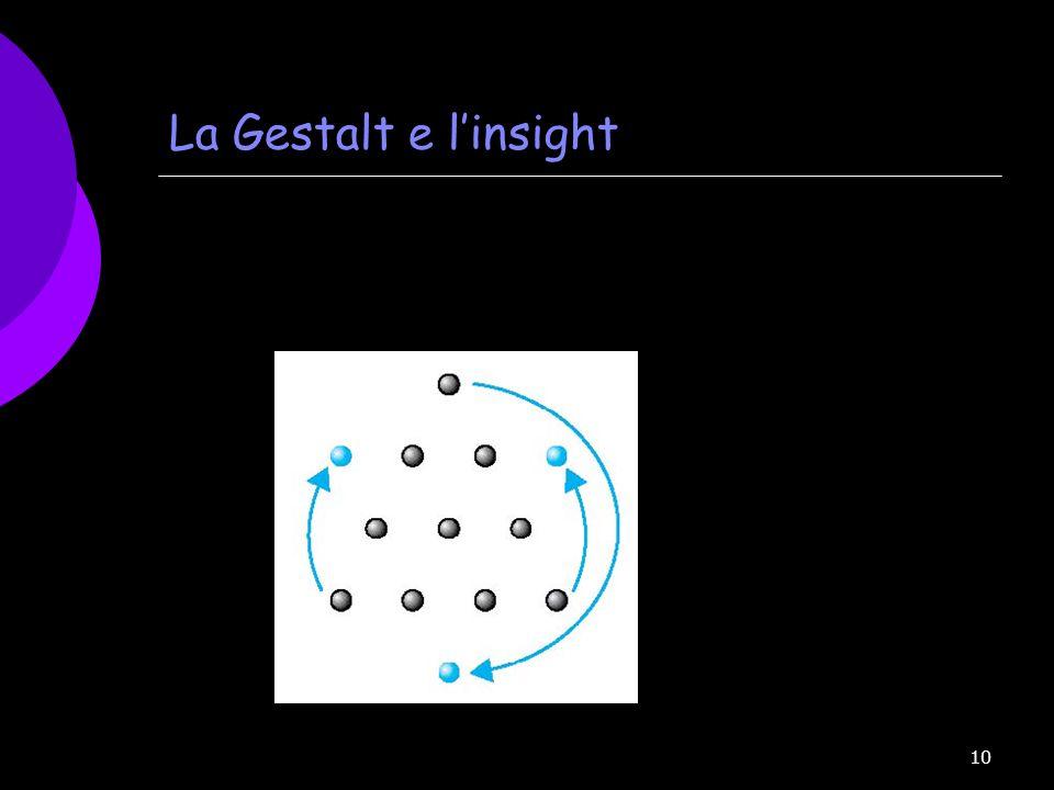 10 La Gestalt e linsight