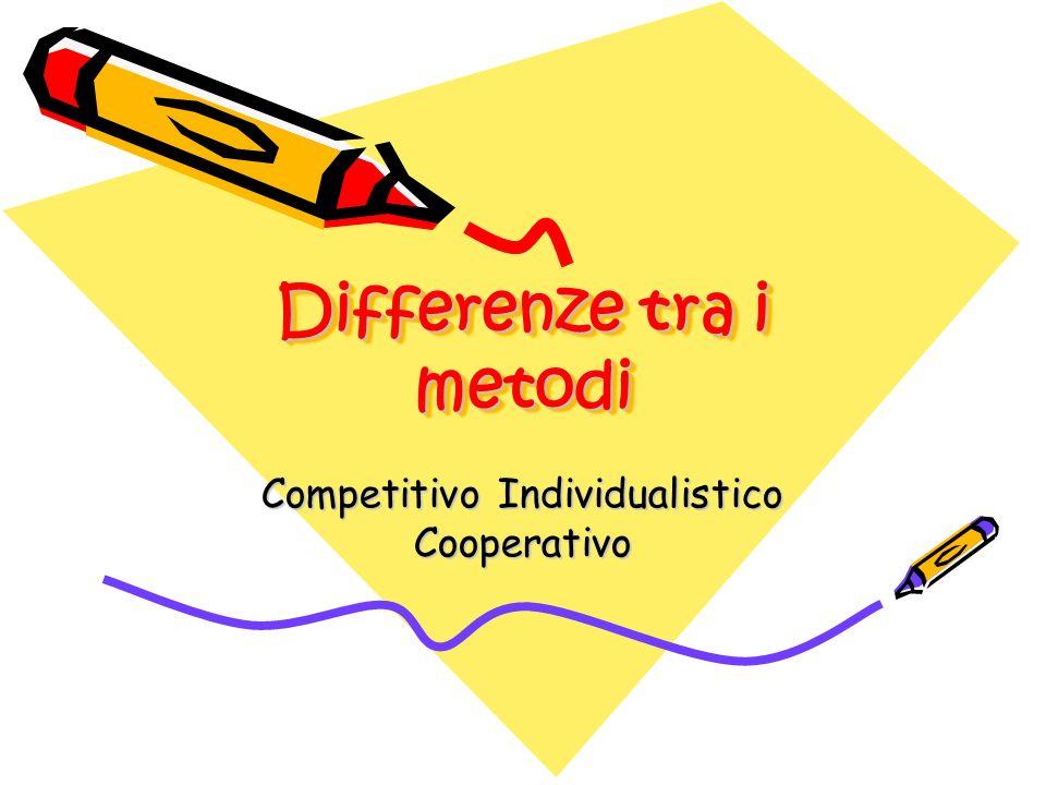 Quale tipo di attività.Competitiva: attività per il miglior rendimento del singolo.