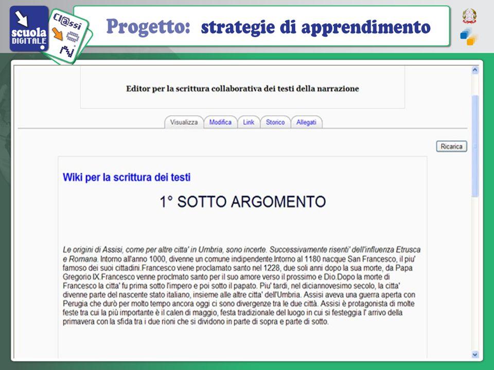 Unaula elettronica Wiki – Il Wiki permette ai partecipanti a un corso di lavorare insieme sulle stesse pagine web modificandone il contenuto. Tutte le