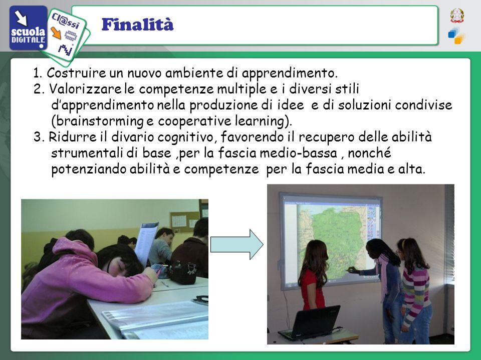 1. Costruire un nuovo ambiente di apprendimento. 2. Valorizzare le competenze multiple e i diversi stili dapprendimento nella produzione di idee e di