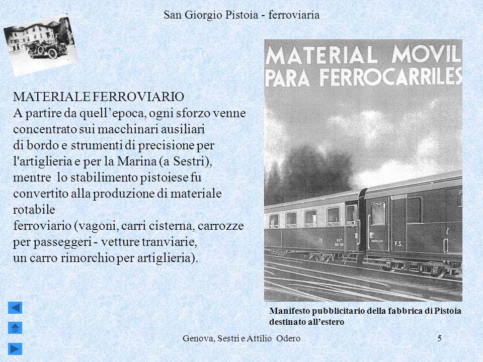 Genova, Sestri e Attilio Odero6 San Giorgio Pistoia – ferroviaria – locomotiva allimbarco a Genova