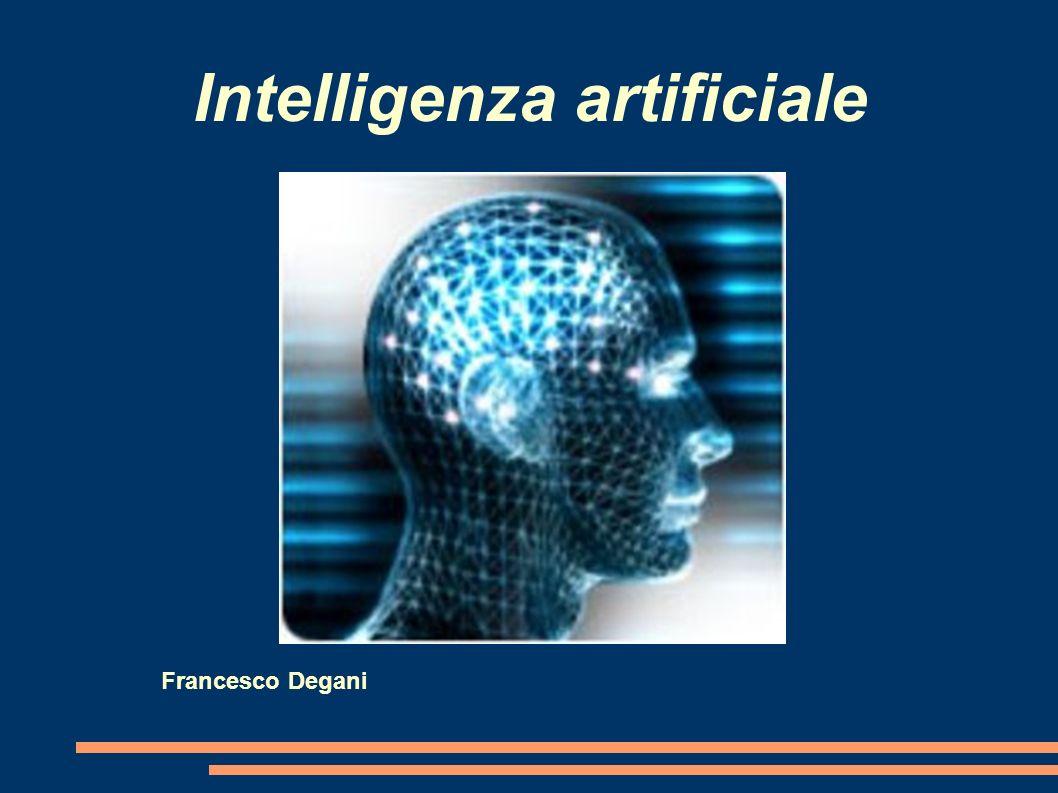 Concetto di intelligenza artificiale Con il termine intelligenza artificiale si intende l abilità di un computer di svolgere funzioni ed effettuare i ragionamenti tipici della mente umana.