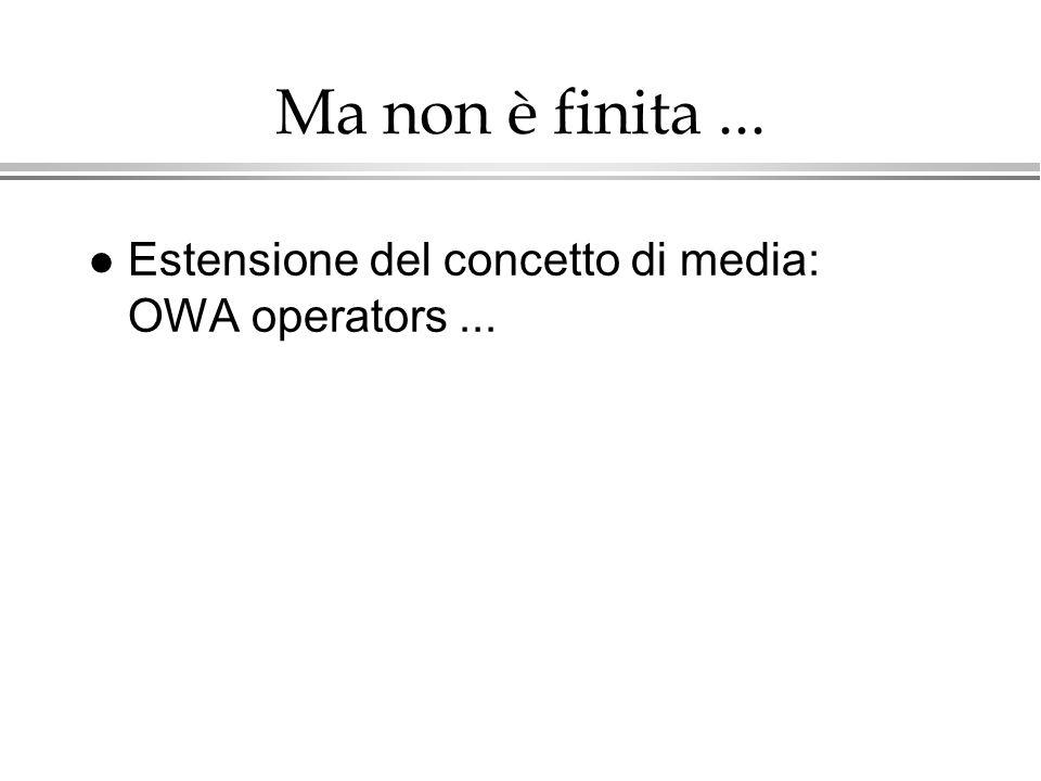 Ma non è finita... l Estensione del concetto di media: OWA operators...
