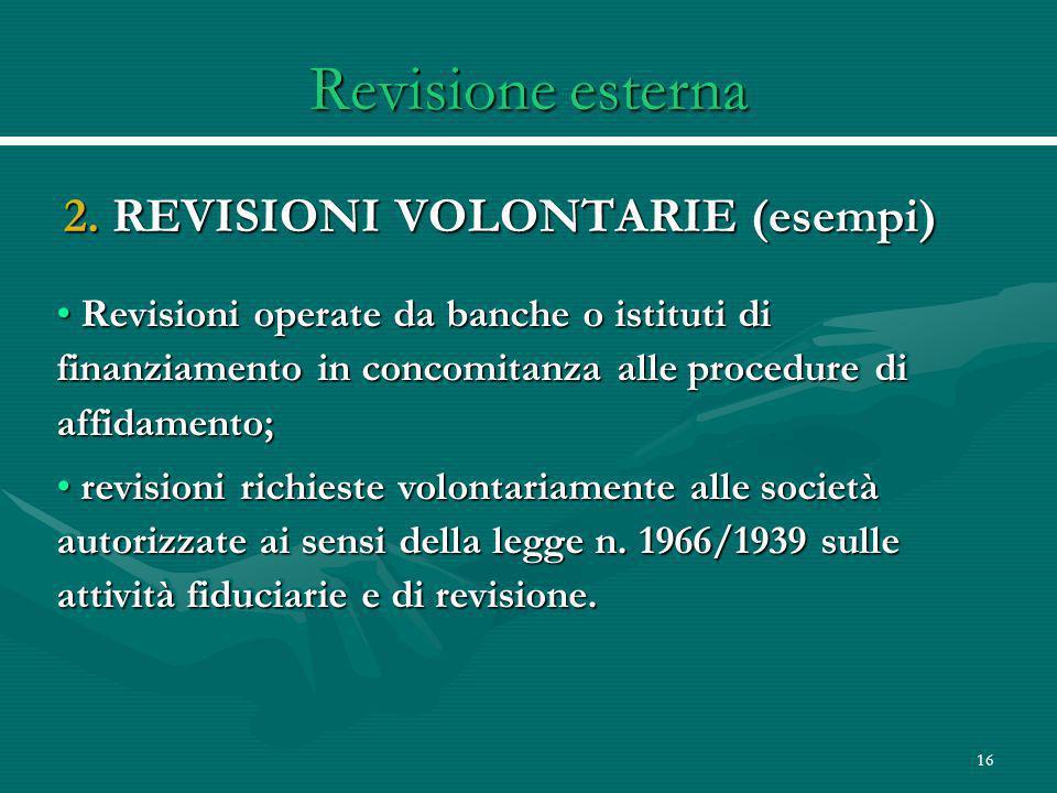 16 Revisione esterna 2.