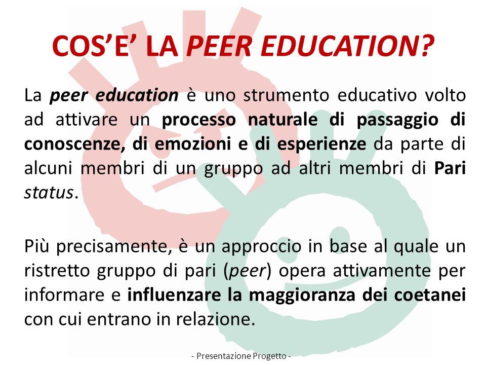 COSE LA PEER EDUCATION.