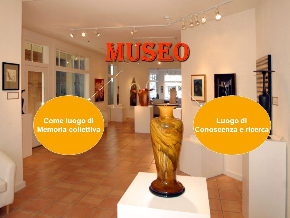 Museo Come luogo di Memoria collettiva Luogo di Conoscenza e ricerca