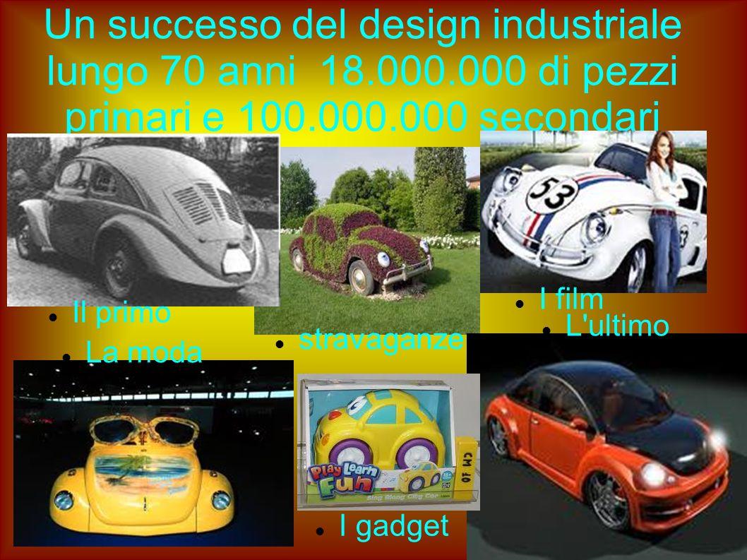 Un successo del design industriale lungo 70 anni 18.000.000 di pezzi primari e 100.000.000 secondari Il primo L'ultimo I film La moda I gadget stravag