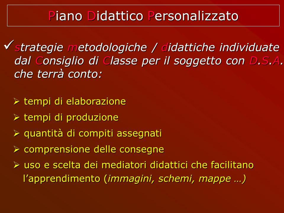 strategie metodologiche / didattiche individuate strategie metodologiche / didattiche individuate dal Consiglio di Classe per il soggetto con D.S.A. d