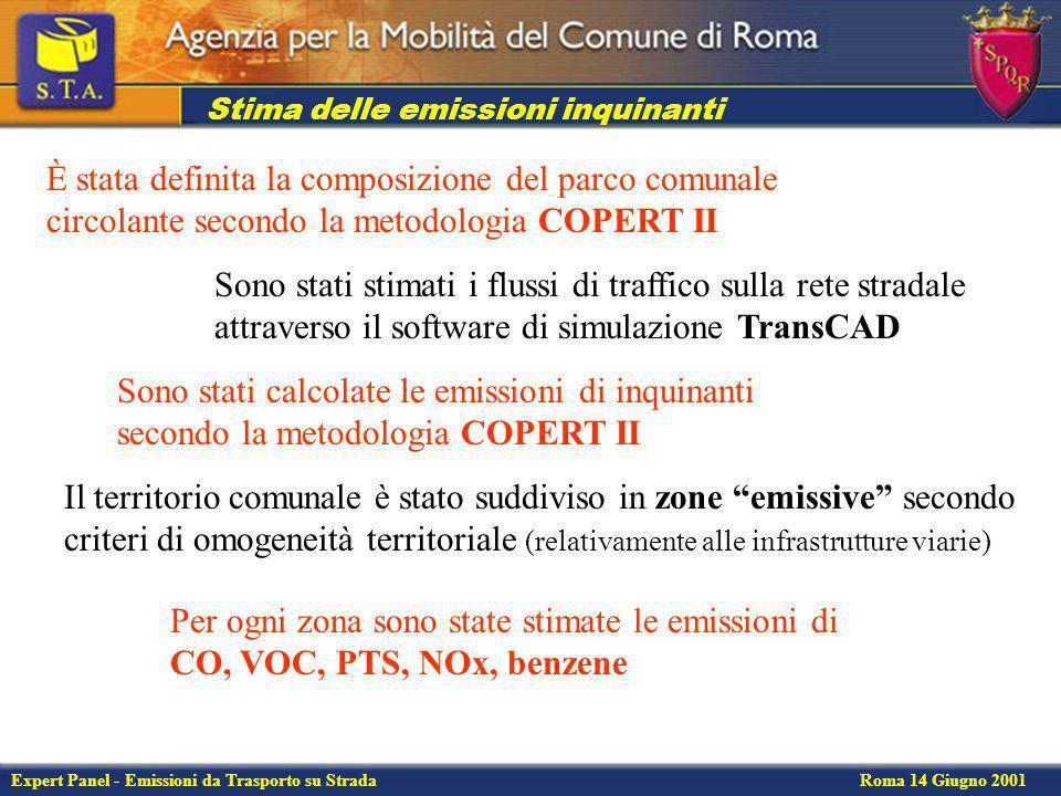 Expert Panel - Emissioni da Trasporto su Strada Roma 14 Giugno 2001 Parco circolante nel Comune di Roma Dati ACI e ANCMA 1999
