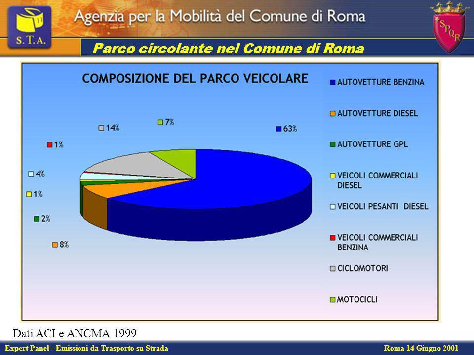 Expert Panel - Emissioni da Trasporto su Strada Roma 14 Giugno 2001 Flussi sulla rete di trasporto privata Stima dei flussi di traffico attraverso il software di simulazione TransCAD