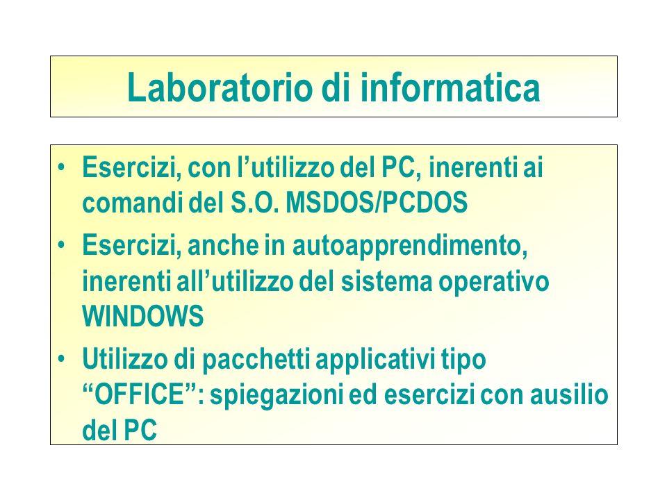 Laboratori Durante lanno scolastico si prevede luso dei seguenti laboratori: Laboratorio di informatica Laboratorio di elettronica Laboratorio di elet