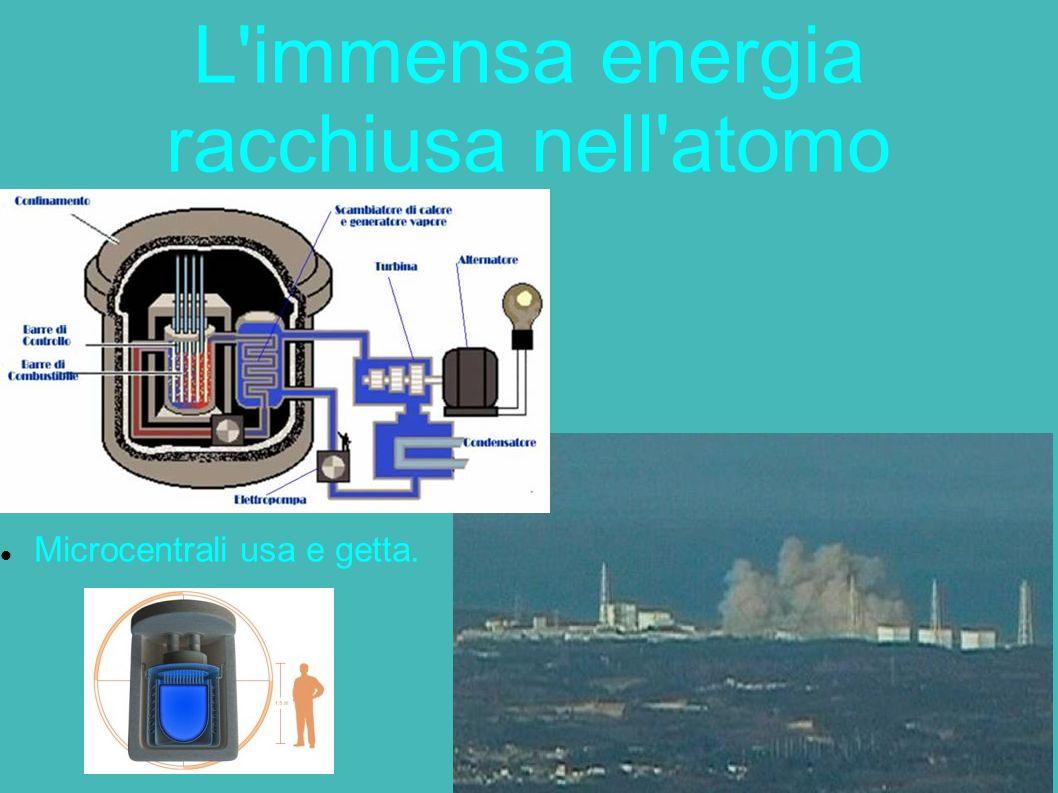 L'immensa energia racchiusa nell'atomo Microcentrali usa e getta.