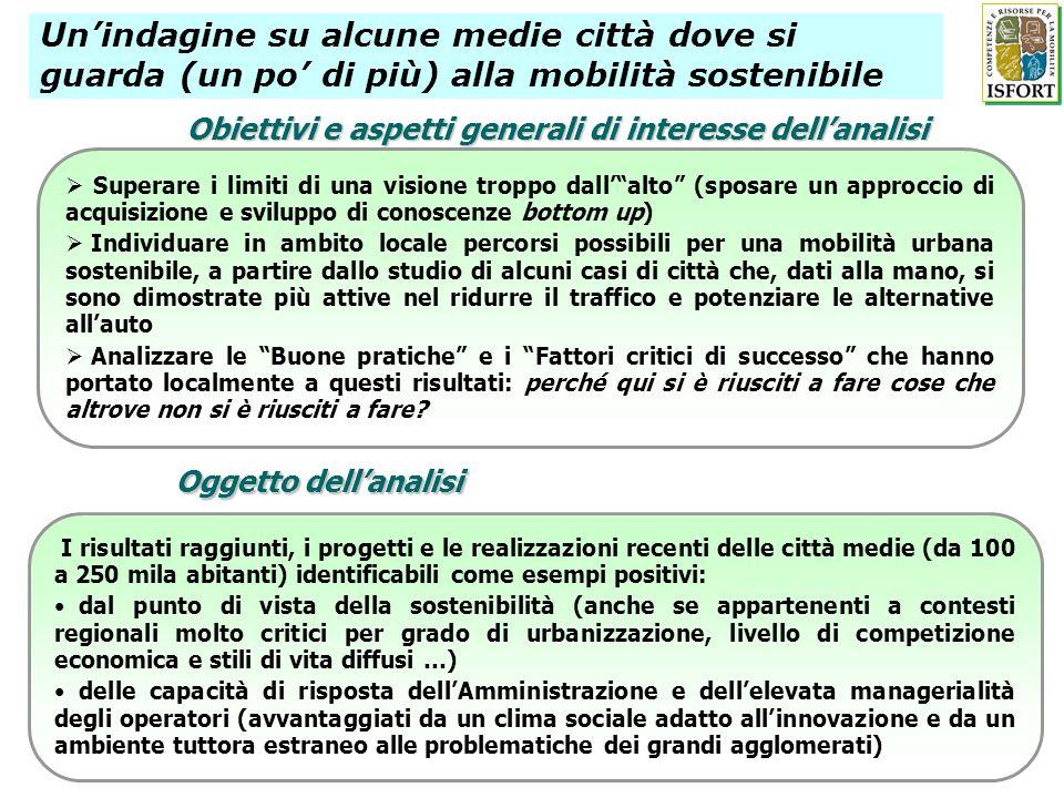Obiettivi e aspetti generali di interesse dellanalisi Superare i limiti di una visione troppo dallalto (sposare un approccio di acquisizione e svilupp