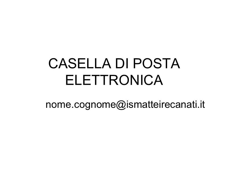 Per ogni docente è stata creata una casella di posta elettronica nome.cognome@ismatteirecanati.it