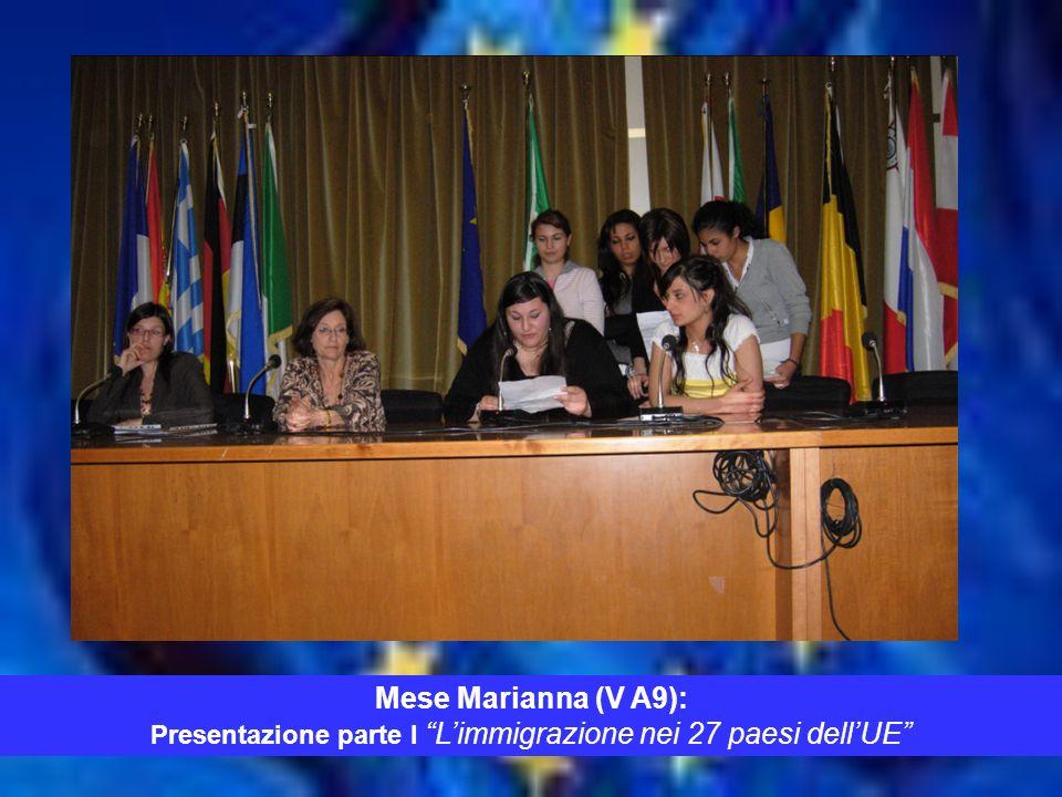 TEMPO Mese Marianna (V A9): Presentazione parte I L immigrazione nei 27 paesi dell UE