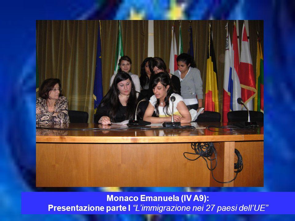 TEMPO Monaco Emanuela (IV A9): Presentazione parte I L immigrazione nei 27 paesi dell UE