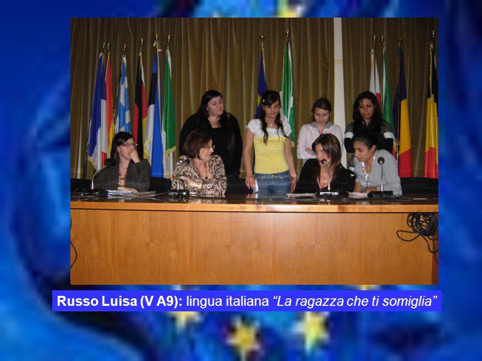 TEMPO Russo Luisa (V A9): lingua italiana La ragazza che ti somiglia