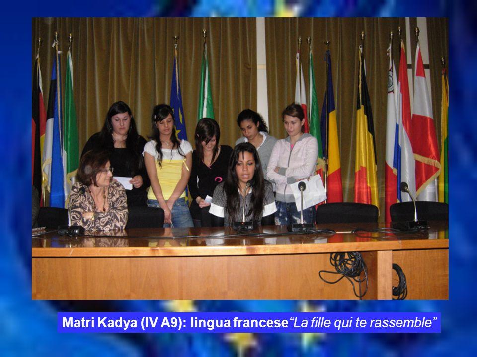 TEMPO Matri Kadya (IV A9): lingua franceseLa fille qui te rassemble