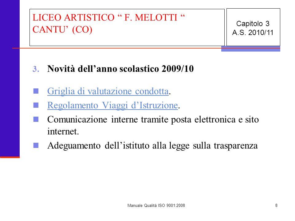 Manuale Qualità ISO 9001:20089 3.