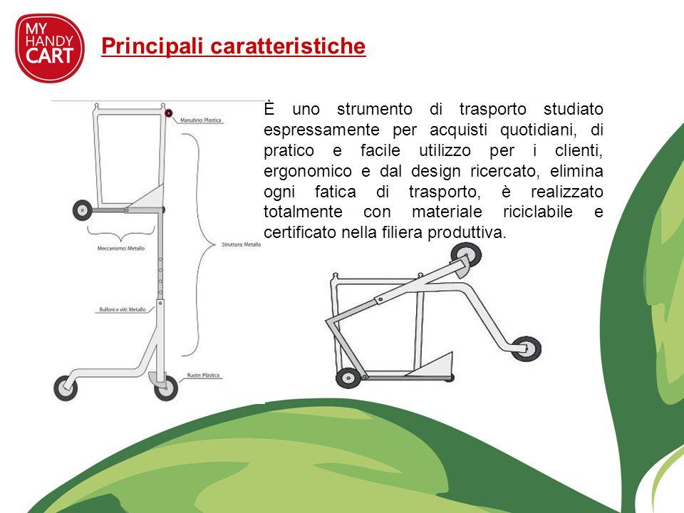 Principali caratteristiche È uno strumento di trasporto studiato espressamente per acquisti quotidiani, di pratico e facile utilizzo per i clienti, er