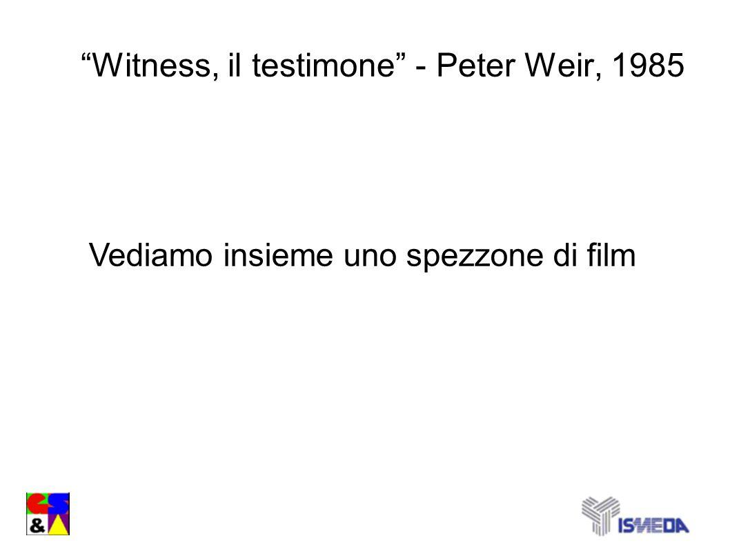Witness, il testimone - Peter Weir, 1985 Vediamo insieme uno spezzone di film