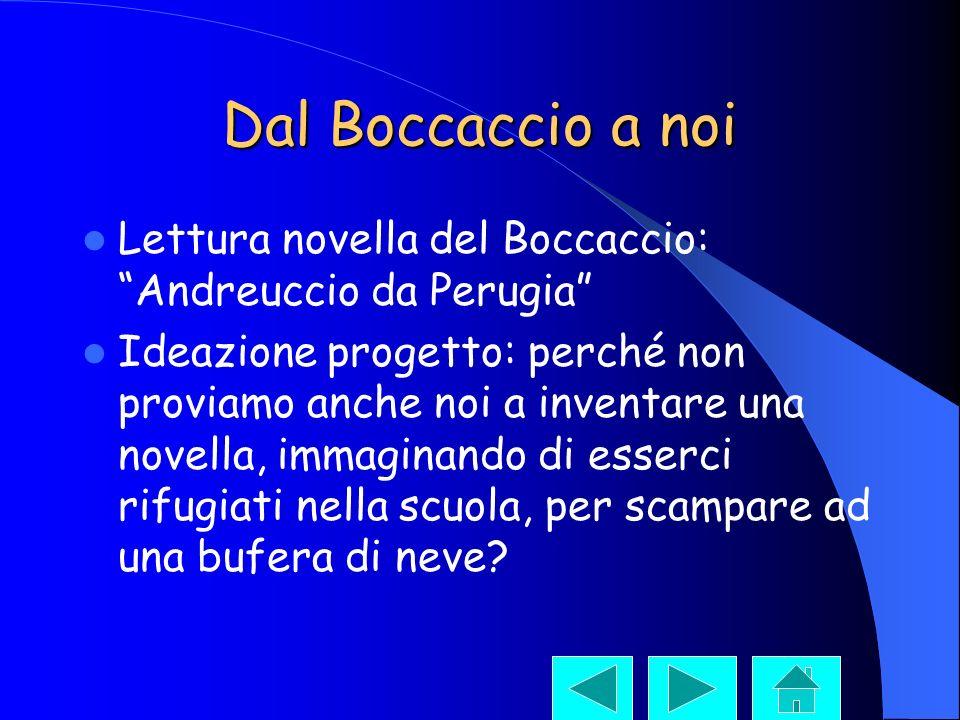 Dal Boccaccio a noi Lettura novella del Boccaccio: Andreuccio da Perugia Ideazione progetto: perché non proviamo anche noi a inventare una novella, im