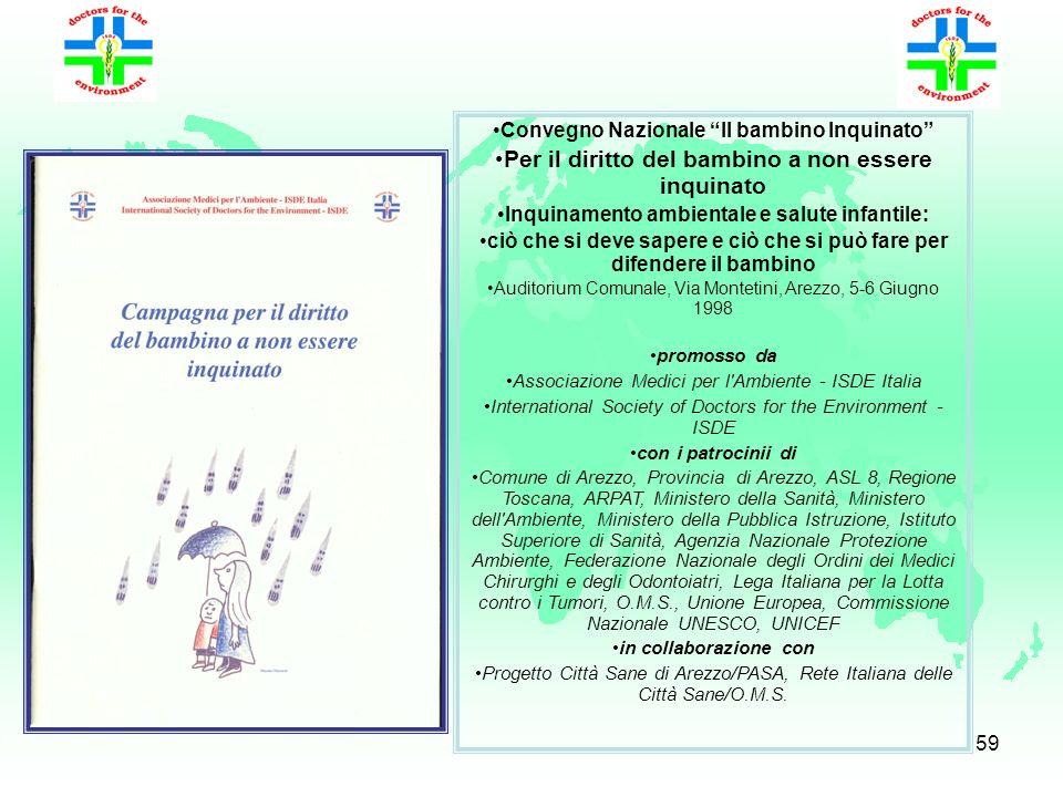 58 Indice Prefazione Ringraziamenti Introduzione: La salute dei bambini e lambiente in Europa Bibliografia Presentazione delledizione italiana PARTE I