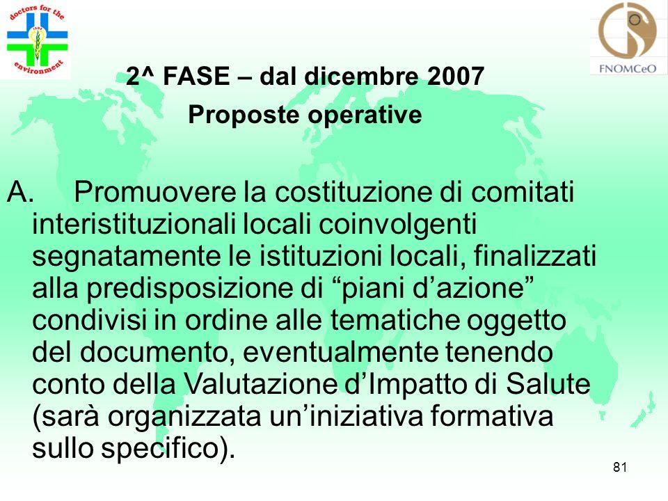 80 In occasione delle Seconde Giornate Italiane Mediche dellAmbiente (29-30 novembre/1 dicembre 2007 ad Arezzo) riunione dei referenti ordinistici per