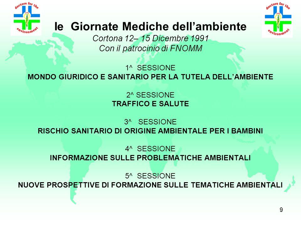 8 IIe Giornate Italiane Mediche dellAmbiente EBM Environment Based Medicine Inquinamento atmosferico urbano e danni alla salute Obiettivi Promuovere l