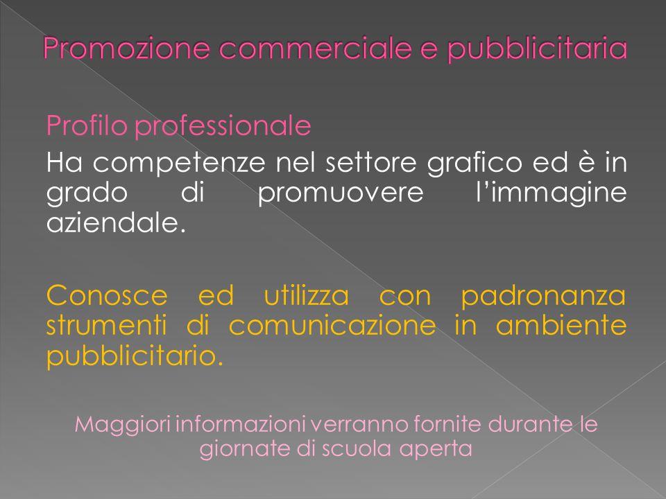 Profilo professionale Ha competenze nel settore grafico ed è in grado di promuovere limmagine aziendale.