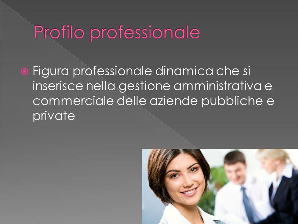 Figura professionale dinamica che si inserisce nella gestione amministrativa e commerciale delle aziende pubbliche e private