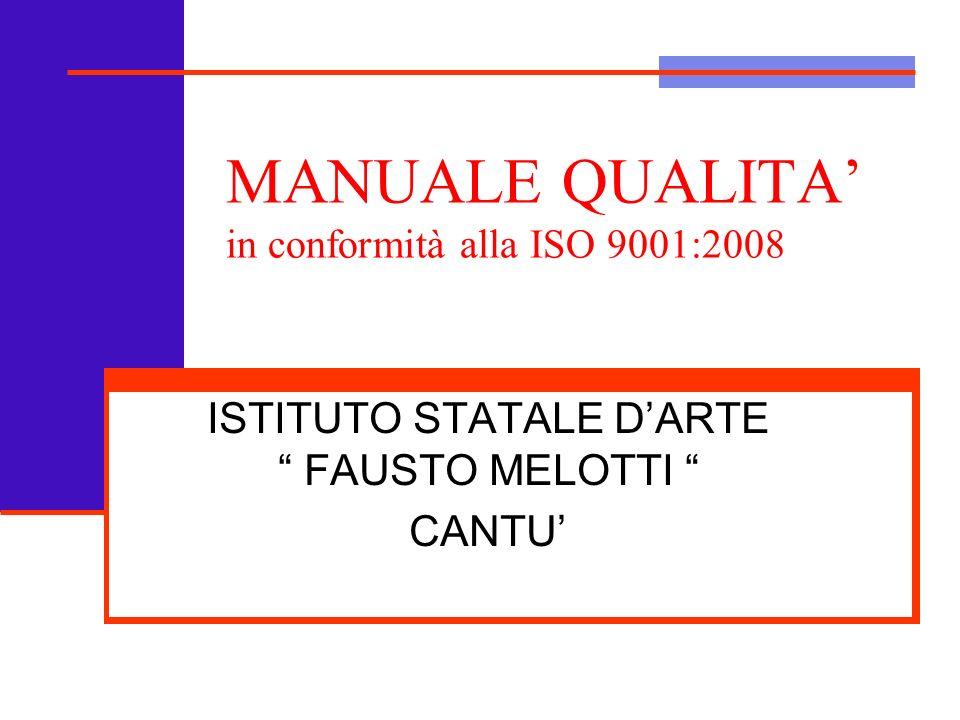 Manuale Qualità ISO 9001:20082 Capitolo 1 ISTITUTO STATALE DARTE F.