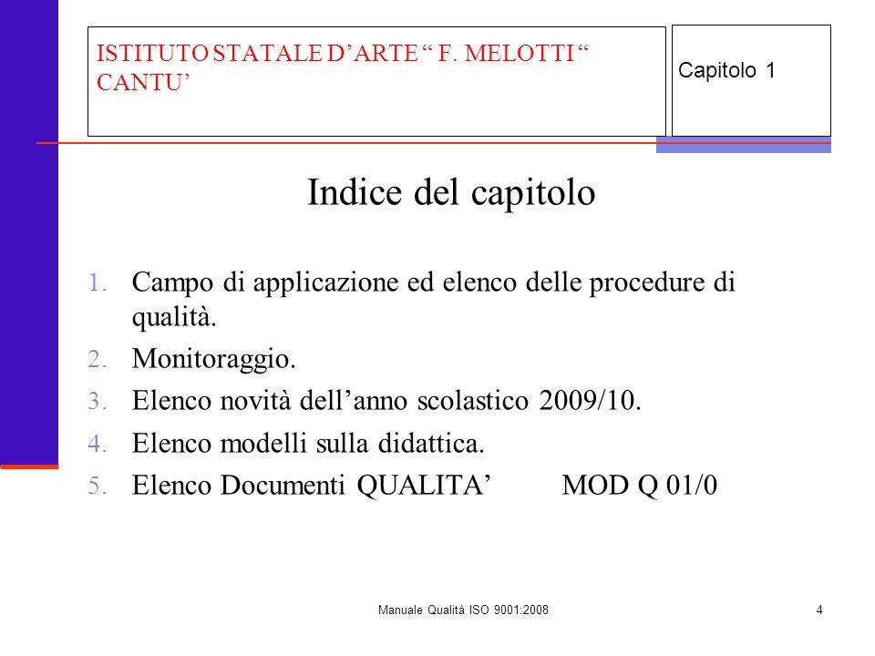 Manuale Qualità ISO 9001:20085 1.